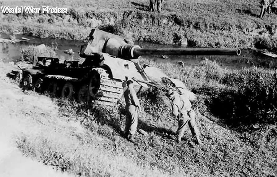 Destroyed Jagdtiger of sPzJgAbt. 653 near Gmund am Tegernsee