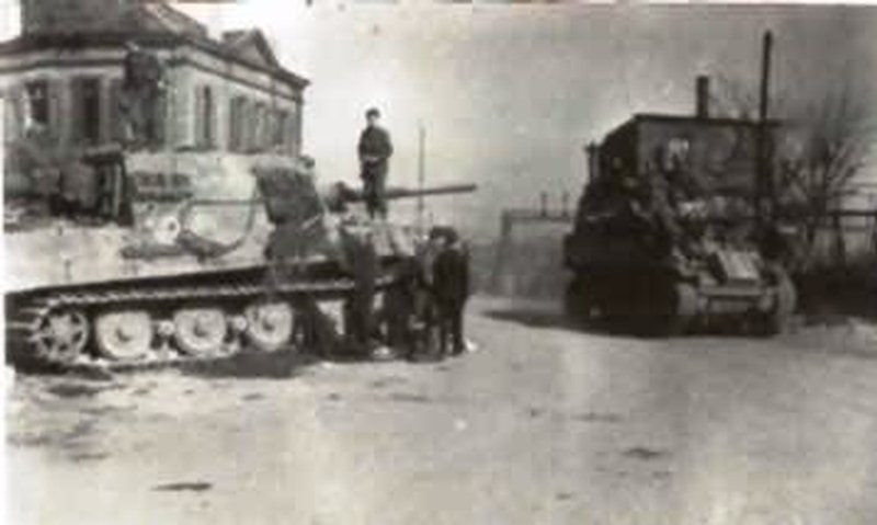 Jagdtiger of the Schwere Panzerjäger-Abteilung 653 in Neustadt 1945. Tactical number 331