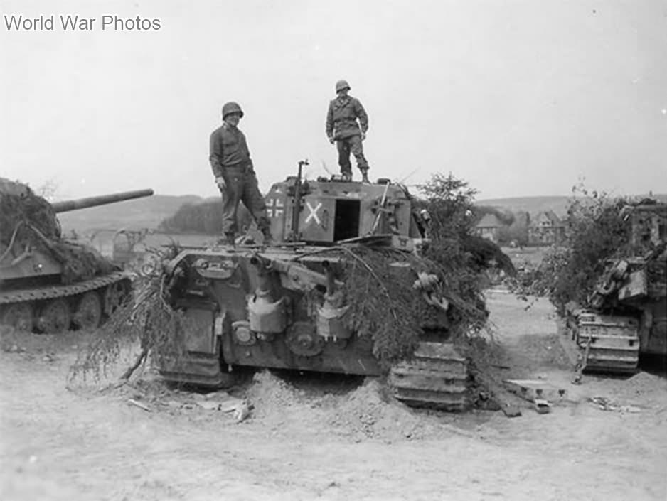Captured Jagdtigers of the sPzJgAbt 512, Germany 1945