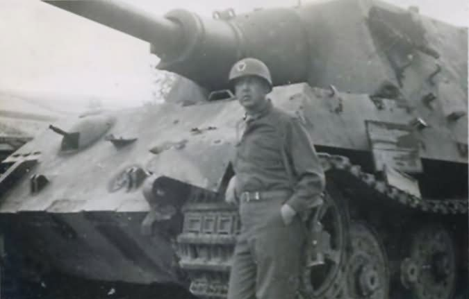 Captured Jagdtiger sdkfz186