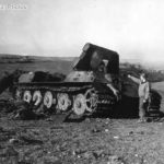 "Destroyed Jagdtiger Fgst.Nr. 305024 ""134"" of s.Pz.Jg.Abt. 653, Rimling 1945"