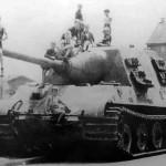 Abandoned in Neustadt Jagdtiger number 323 of the schwere Panzerjager Abteilung 653