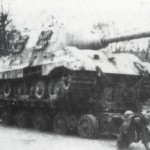 Captured Jagdtiger on culemeyer trailer