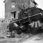 Jagdtiger wreck of the Schwere 3/Panzerjäger-Abteilung 512. Osterode 1945