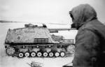 German tank destroyer Nashorn Ostpreussen winter