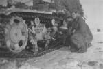 damaged Nashorn tank destroyer