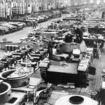 Neubaufahrzeug tank in factory