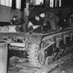 Neubaufahrzeug tank under construction in Rheinmetall factory