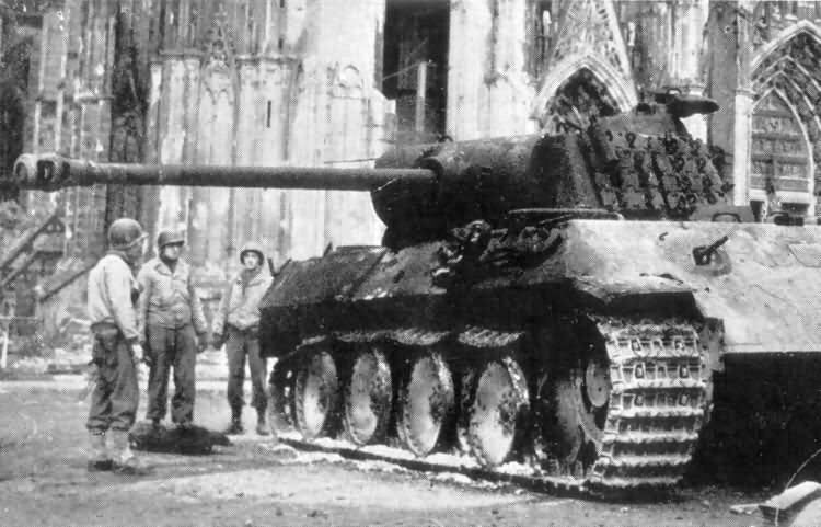 Panzer V Panther Ausf A tank from II/Panzer Regiment 33, 9th Panzer Division, Cologne Germany