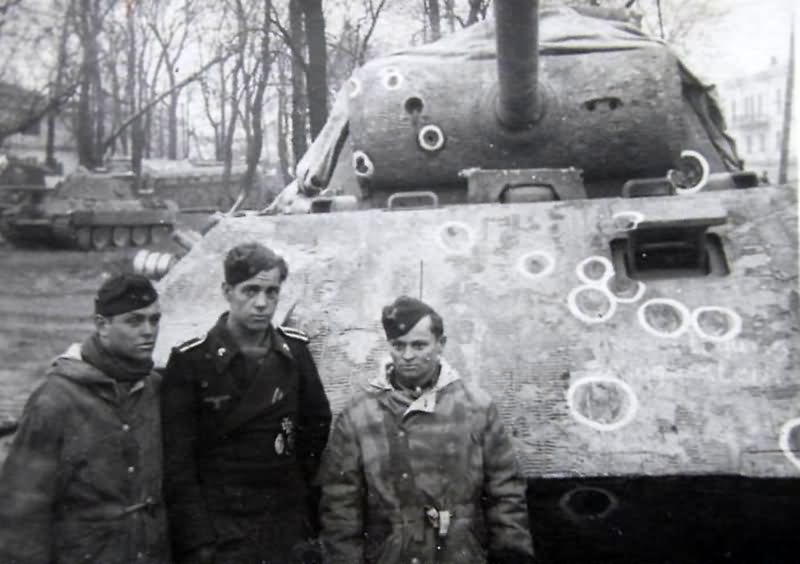Panther tank with hit marks