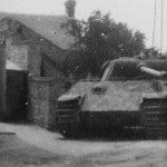 Abandoned Captured German Panther Tank in French Street 1944