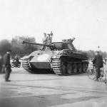 Abandoned German Panzer V Panther in Paris