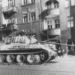 Abandoned Panther Ausf G tank from 19th Panzer Division Poznan 1945