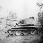 Abandoned Panther tank