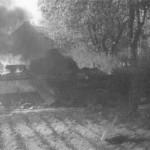 Burning Panther Tank