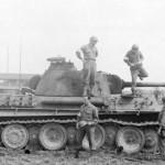 Captured tank Panther Ausf G