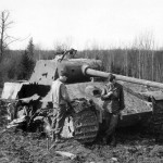 Destroyed Panther tank Germany 1945