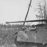 POWs and knocked out German Panther Ausf G Sinz 94th Inf 3rd Army