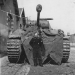Panther Ausf D 1944 and crew member
