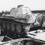 Panther Ausf D number 131 on flat car