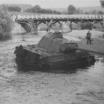 Panther Ausf G in river