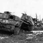 Panther Ausf G number 111 and Panzer IV Belgium 1945