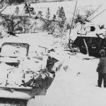 Panther Tanks Part Of A Column Smashed In A Vally South Of Stavelot