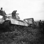 Panther tank in mud
