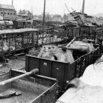 Panther turrets Aschaffenburg Railroad Yards In Germany