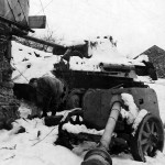 Stavelot 1945 Panther and PaK 40