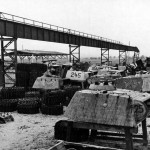 Tank Treads And Panther Tank Turrets 1945