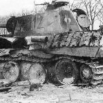 destroyed Panther Ausf A number 112