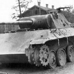 destroyed Panther Ausf D number 102 of Panzer Grenadier Division Grossdeutschland 1943
