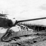 destroyed Panther Ausf D tactical number 745 of the Panzer-Brigade 10 -1943