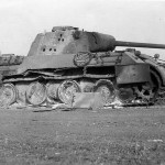 destroyed tank Panther Ausf D