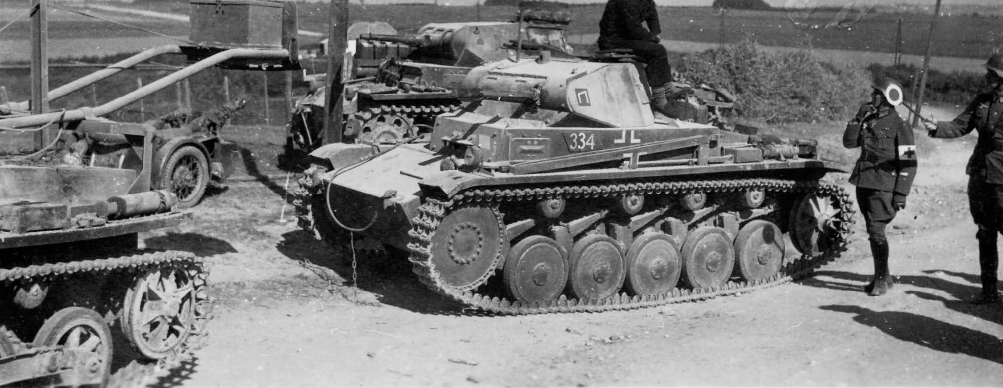 Panzer II ausf C late number 334