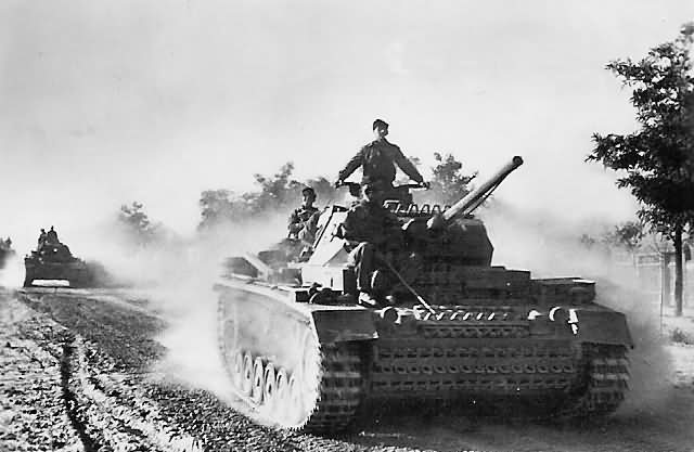 German Panzer 3 tanks