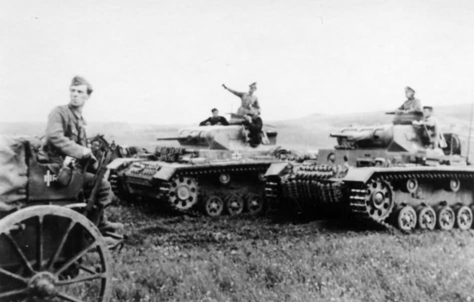 German Panzer 3 tanks photo