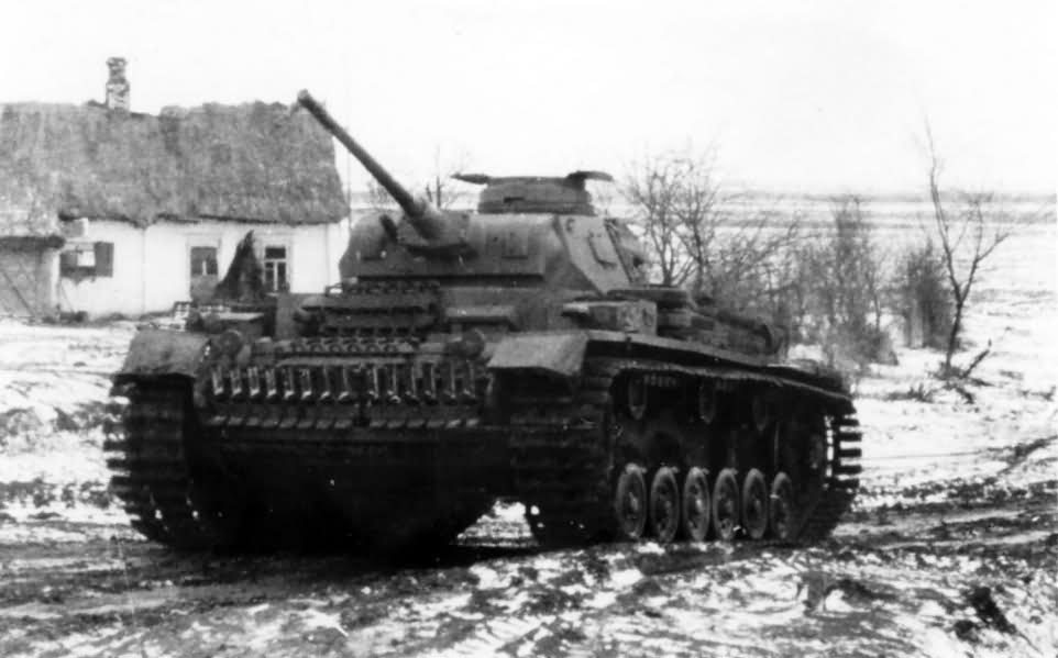 German tank Panzer 3 Russia