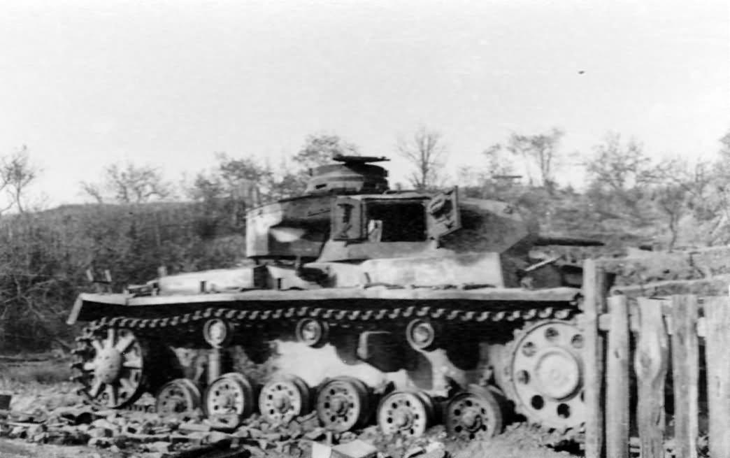 German tank Panzer 3 destroyed