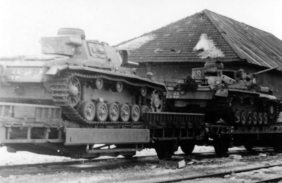 Panzer 3 rail transport