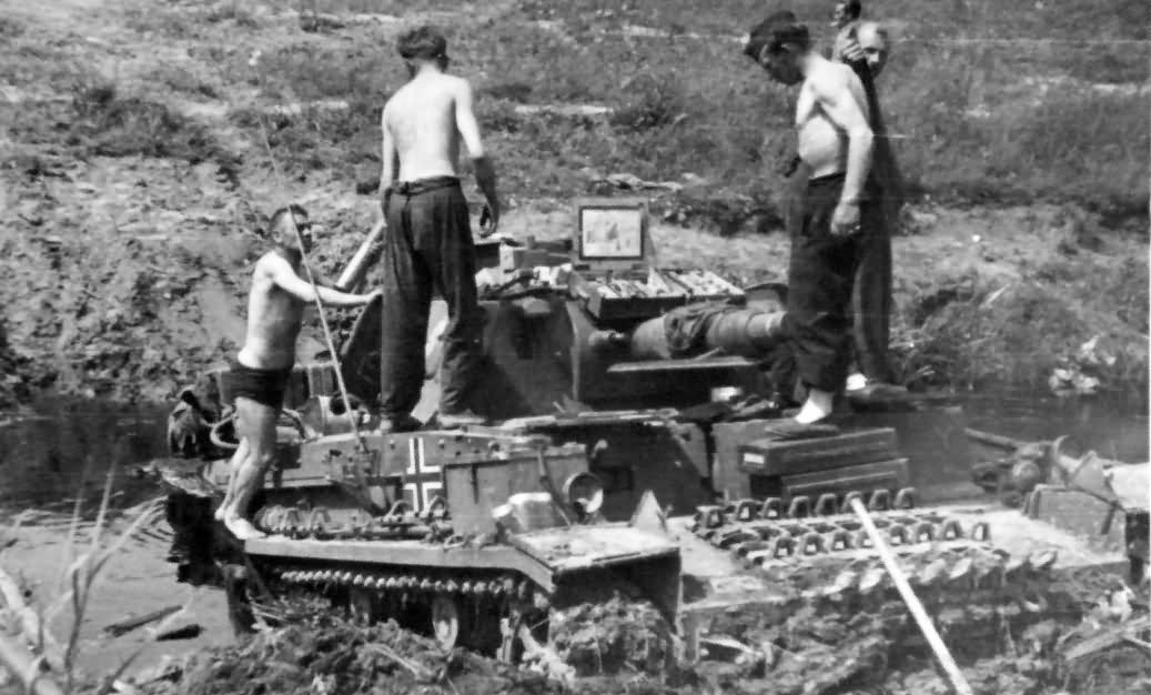 Panzer 3 tank in mud