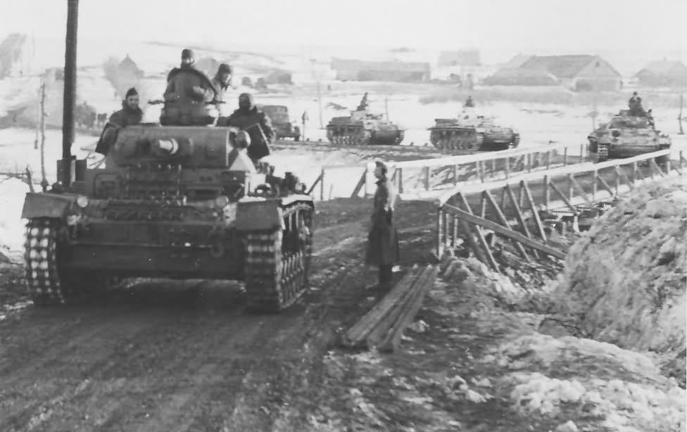 Panzer 3 tanks winter