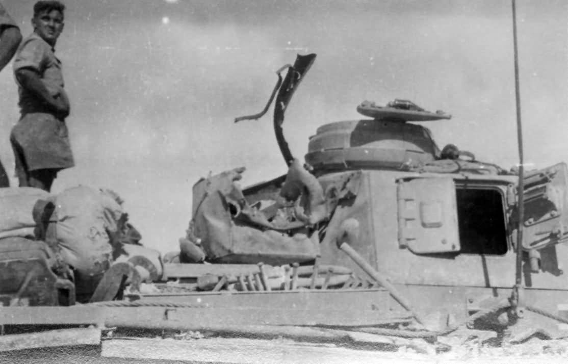 Damaged Panzer III of the Afrika Korps