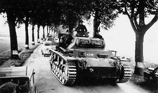 Panzer III of the 6. Panzer-Division France