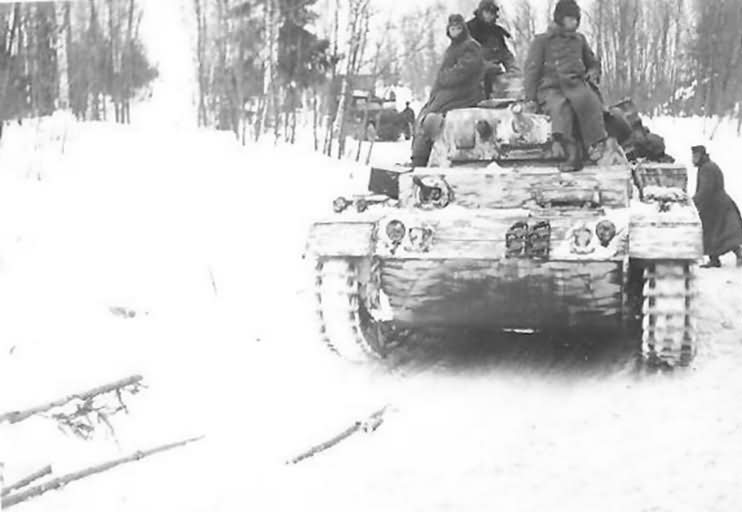 Panzer III with provisional winter camouflage 2