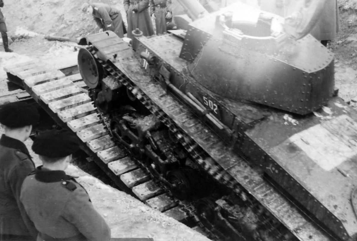 Panzer 35t 502 during trials