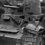 Destroyed early Panzer 38(t)