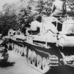 Panzer 38(t) tanks of the Panzer Regiment 25, 7th Panzer Division, Eastern Front June 1941