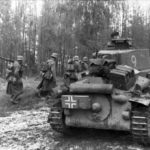 Panzer 38(t) of the 20th Panzer Division and Infanterie Eastern Front